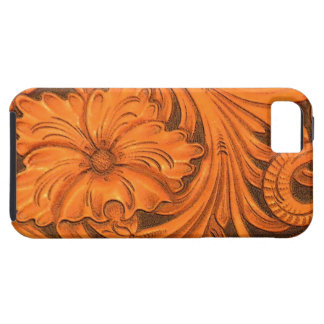 Faux Floral Tooled Leather iPhone 5 Case-Mate iPhone 5 Cover