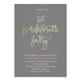 Faux Foil Bachelorette Party Invitation