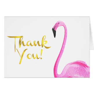 Faux Foil, Flamingo, Thank You Cards