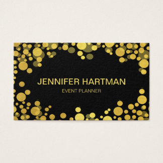 Faux Foil Gold Bubbles Business Card