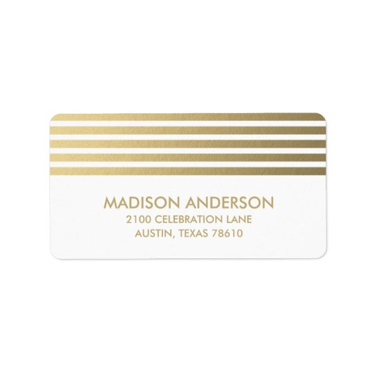 Faux Foil Stripes | Graduation Address Label