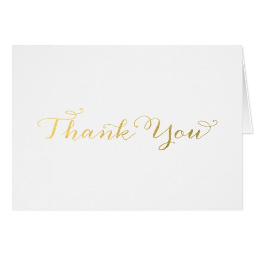 FAUX FOIL | THANK YOU CARD