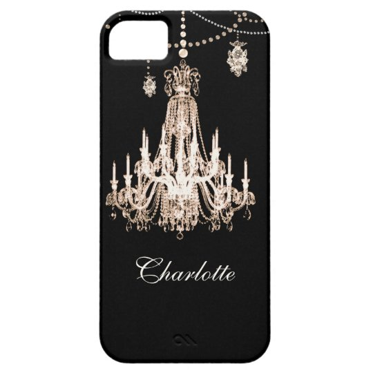 FAUX French Crystal Chandelier Personalised Name iPhone 5 Covers