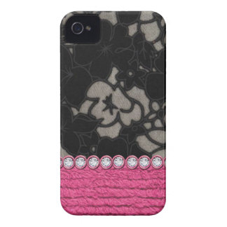 Faux Fur Chain Links & Rhinestones I phone 4 Case iPhone 4 Case