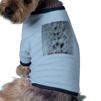 FAUX FUR CHEST HAIR DOGGIE T SHIRT