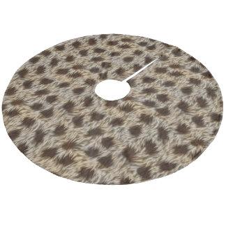 Faux Fur Fabric Pattern, Brown & Beige Fake Fur Fleece Tree Skirt