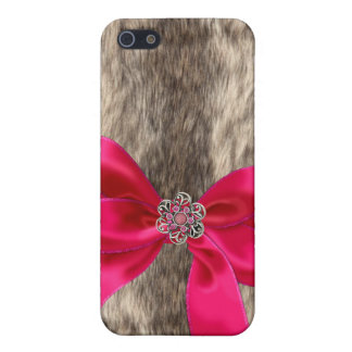 Faux Fur,Jeweled & Rhinestone faux I Phone Case iPhone 5 Cover