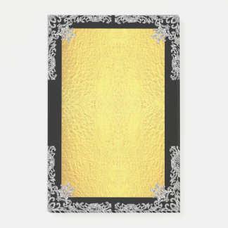 Faux Glitter and Gold Post-it® Notes