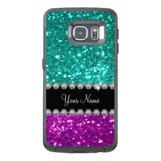Faux Glitter Bling Monogram OtterBox Samsung Galaxy S6 Edge Case