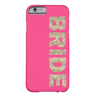 Faux Glitter Bride iPhone 6 Case in Pink