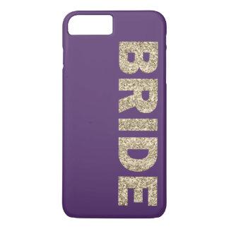 Faux Glitter Bride iPhone 7+ Case in Purple
