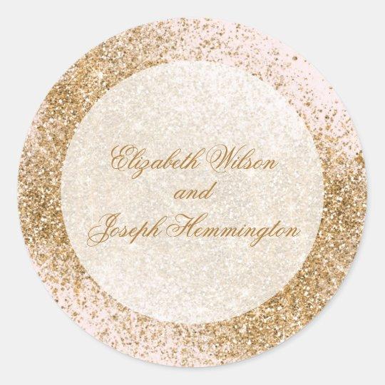 FAUX Glitter Dust Blush & gold Wedding Classic