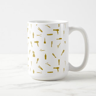 Faux Glitter Hair Stylist Tools Coffee Mug