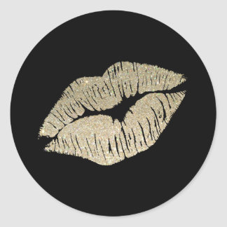 Faux Glitter Lips Sticker