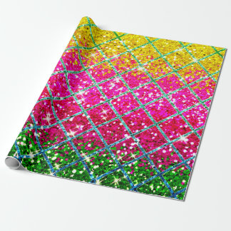 Faux Glitter Pink Snakeskin Wrapping Paper