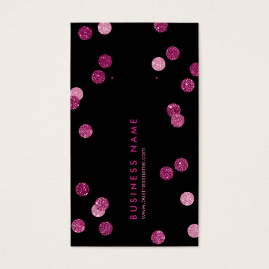 Faux Glitter Pink Vertical Earring Back Cards