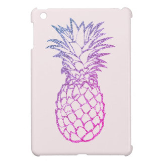 Faux Glitter Purple Pineapple Pink iPad Mini Case