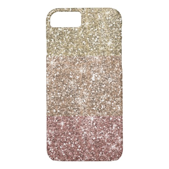 Faux Glitter Rose Gold Ombre Pattern Girly iPhone