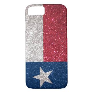 Faux Glitter Texas flag iPhone 7 Case