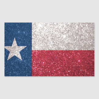 Faux Glitter Texas flag Stickers