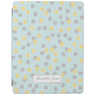 Faux Gold and Silver Confetti Personalized iPad Cover