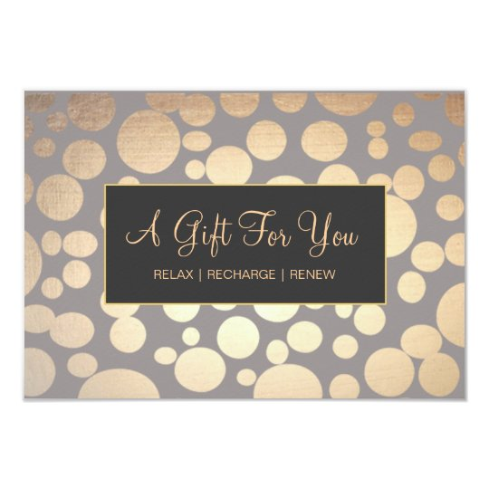 Faux Gold and Taupe Spa and Salon Gift