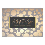 Faux Gold and Taupe Spa and Salon Gift Certificate Personalized Announcement