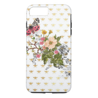 faux gold,bees,floral,whimsical,chic,dandy,cute,pa iPhone 8 plus/7 plus case