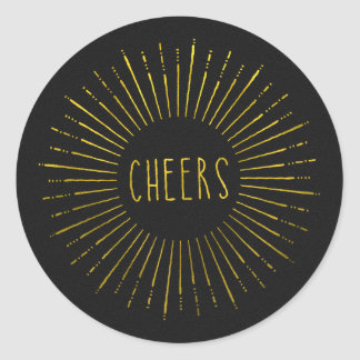 Faux Gold Cheers Stickers