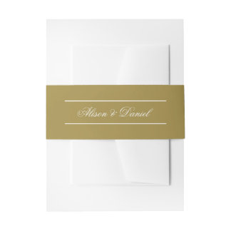 Faux Gold Christmas Holiday Portrait Invitation Belly Band