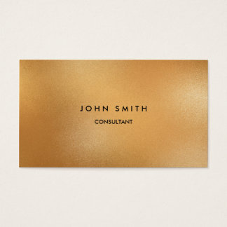 Faux Gold Classic, Simple, Two-Sided Business Card