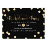 Faux Gold Confetti Bachelorette Party Invite