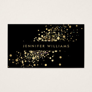 Faux Gold Confetti Dots Event Planner, Stylist Business Card