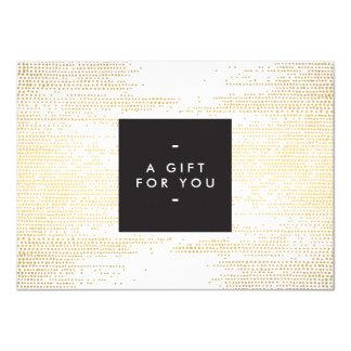 Faux Gold Confetti Dots Pattern Modern Gift Card