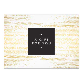 Faux Gold Confetti Dots Pattern Modern Gift Card 11 Cm X 16 Cm Invitation Card