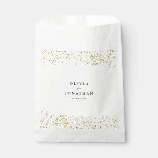 Faux Gold Confetti | Modern Wedding Favor Bag
