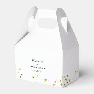 Faux Gold Confetti | Modern Wedding Favor Box