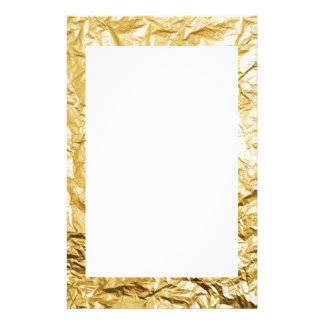 Faux Gold Crumpled Metallic Foil Effect Stationery