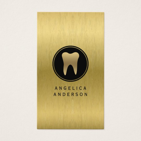 Faux Gold Dental Business Card