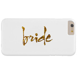 Faux Gold Foil Bride Barely There iPhone 6 Plus Case