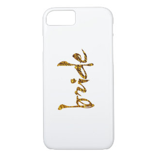 Faux Gold Foil Bride iPhone 7 Case