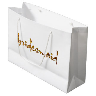 Faux Gold Foil Bridesmaid Large Gift Bag