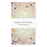 Faux Gold Foil Circles and Confetti Pattern Pack Of Standard Business Cards