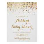 Faux Gold Foil Confetti Baby Shower Welcome Sign