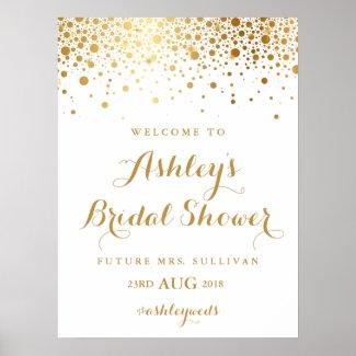 Faux Gold Foil Confetti Bridal Shower