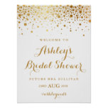 Faux Gold Foil Confetti Bridal Shower Poster