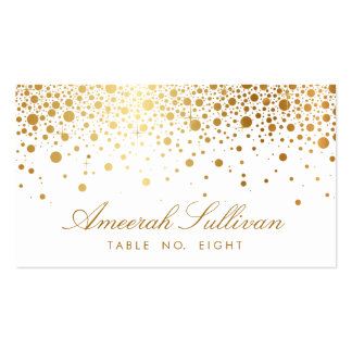 Faux Gold Foil Confetti Dots Elegant Place Cards Pack Of Standard Business Cards