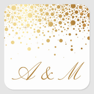 Faux Gold Foil Confetti Dots Sticker III