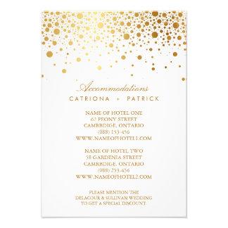 Faux Gold Foil Confetti Elegant Accommodations Car Invitation