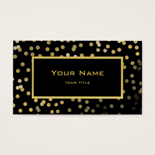 faux gold foil confetti elegant modern on black